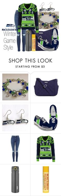 """Seahawks Winter Outfit"" by forever-inspired ❤ liked on Polyvore featuring moda, Vera Bradley, WinCraft, The Bradford Exchange, Forever Collectibles ve Thermos"
