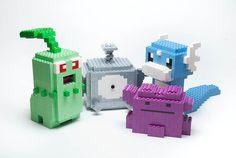 Pokémon : Chikorita, Magnemite, Ditto, and Dratini  by Filip Johannes Felberg