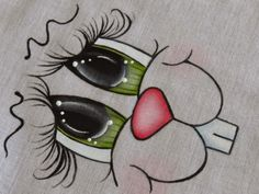Artes Mariana Santos!: Passo a Passo Olhinhos (Olhos verde numero 1)