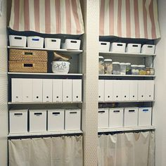 パントリー整理は、ニトリのインボックスにお任せ♡ | RoomClip mag | 暮らしとインテリアのwebマガジン Organisation Hacks, Organization, Organizing, Pantry, Lockers, Locker Storage, Towel, Cabinet, Holiday Decor