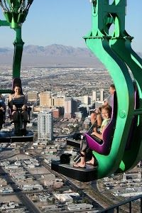 A ride at the Stratosphere Tower in Las Vegas.