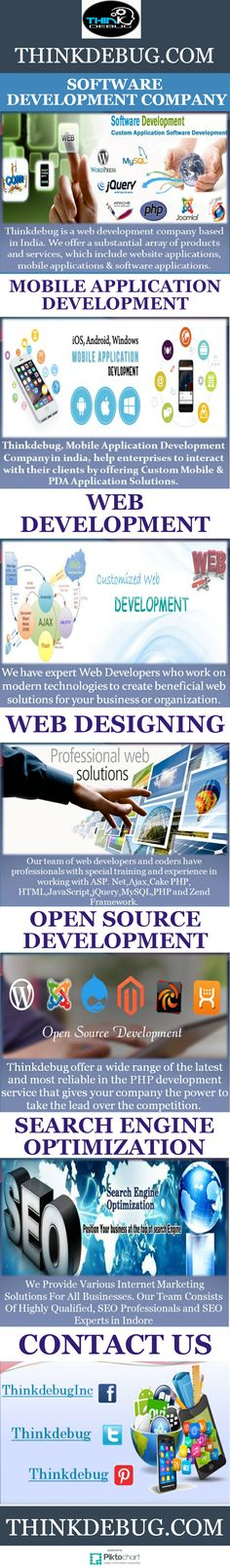 Your website is the representation of your business or organization to the world. We develop the website or portal with complex functions and makes your ideas into a web application. At our #web_Development Company in Indore offers you wide range of #web_design & development services in PHP, Angular.Js, Meteor.Js secured web applications etc., The lack of a proper website can easily put off many prospective customers even without your knowledge.  More visit: http://thinkdebug.com