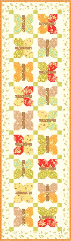fig tree quilts - painted ladies as a table or bed runner! <3