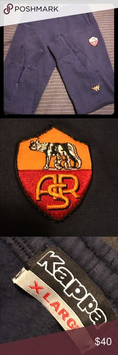 Kappa AS Roma Soccer Sweat Pant Throwback Kappa AS Roma (Italian Soccer  Club) sweat
