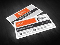 Cartes De Visite Creative Metro Business Card Template 0008 Orange Modeles Gratuits