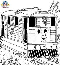 Thomas the train coloring pictures for kids to print out and color | Train Thomas the tank engine Friends free online games and toys for kids