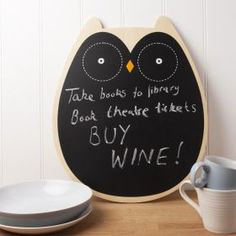 Owl Chalk Board in Kitchen