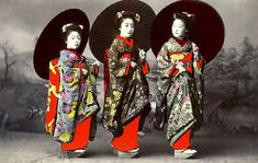 Vintage Japan - geisha  Know your Kimono article series Japan history, culture