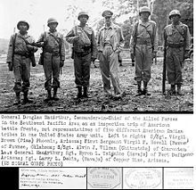General douglas macarthur meets american indian troops wwii military pacific navajo pima island hopping - Navajo people - Wikipedia, the free encyclopedia