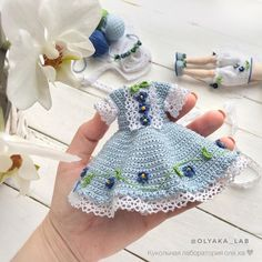 Simone Niglib - Her Crochet Baby Doll Clothes, Crochet Baby Clothes, Doll Clothes Patterns, Barbie Clothes, Crochet Bunny, Cute Crochet, Knit Crochet, Crochet Doll Dress, Knitted Dolls