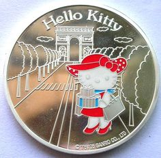 France 2005 Hello Kitty 1 1 2 Euro Colour Silver Coin Proof B | eBay