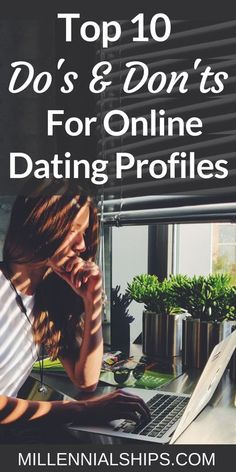 Your online dating experience is much easier when you have a killer online dating profile! Find out the Top 10 do's and don'ts. Millennialships has dating advice, relationship advice and self care info for millennial women. Tags: Online dating tips, onli Online Dating Humor, Online Dating Profile, Dating Apps, Dating Memes, Dating Quotes, Online Dating Questions, Healthy Relationships, Relationship Advice, Relationship Improvement