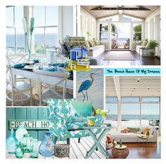 """""""The Beach House Of My Dreams"""" by nicolevalents ❤ liked on Polyvore featuring interior, interiors, interior design, home, home decor, interior decorating, Jonathan Adler, Pier 1 Imports and Safavieh"""