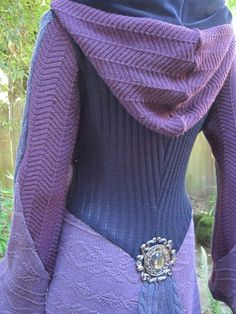 Recycled Sweater Coat 73 ... Purple Lavender/Gray by ipseity