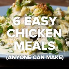 6 Easy Chicken Meals Anyone Can Make - Healthy Chicken Recipes Tasty Videos, Food Videos, Cooking Videos, Diet Recipes, Cooking Recipes, Healthy Recipes, Easy Cooking, Healthy Meal Prep, Healthy Eating