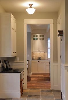 Delorme Designs: WHITE CRAFTSMAN STYLE KITCHENS- ACCURATE EXCEPT FOR WAINSCOTING ON LOWER PORTIONS