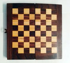 High Quality Classic Folding Wooden Chess chess set vintage pieces box board #VisvabhavanahMart