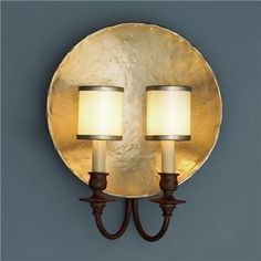 Golden Nugget Plate Wall Sconce shades of light 14.75 H x 12 W