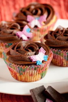 Cupcakes are my new love: Cupcakes de chocolate con chips