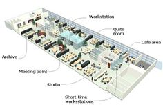 offices open plan interior design