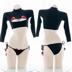 Little Devil Key Hole Hollow Chest Top Underwear Lingerie SD00011