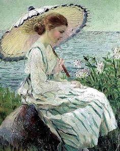 Retrato inglés pintado al óleo por Marlow.