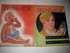 1933 DELINEATOR MAGAZINES-DECO ERA-PARIS FASHIONS-HOME NEWS-FICTION-GREAT ADS-2! | eBay