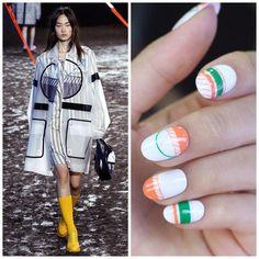 Nail Unistella by EK . Lab — [#유니스텔라트렌드]  #2016ss #뉴욕 #헌터오리지널  컬렉션에서 영감을 얻은... Korean Nail Art, Korean Nails, Patterns, Block Prints, Pattern, Models, Templates