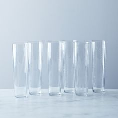 Elevating the humble water glass to a champagne flute level... Etched Botanical Glass (Set of 6) on Provisions by Food52
