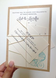Lace Wedding Invitation DIY With Instructions Love The Simplicity Of The Brown Paper Bag Look