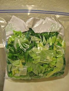 To keep lettuce from wilting, put a paper towel in a zip loc bag with the lettuce.  It will absorb the moisture that causes the wilting.