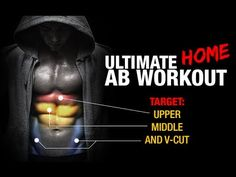 Ultimate Home Ab Workout (UPPER, MIDDLE, LOWER V-CUT!!) - YouTube