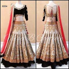 Pakistani Sari Designer Dress Bollywood Women Lehenga Party Indian Wedding 6004