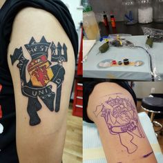 See 2 photos and 2 tips from 70 visitors to Body Art & Soul Tattoos. Man Utd Tattoo, Learn To Tattoo, Manchester United Wallpaper, Eric Cantona, Soul Tattoo, Angel Tattoo Designs, Samoan Tattoo, Awesome Tattoos, Man United