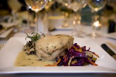 Pan Roasted Hawaiian Butterfish with a Creamy Tarragon Veloute.