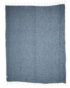 Brighton Beach blanket from MAYDE $89.95 - cotton/bamboo blend from Turkey. 150cm x 200cm - Colour: Denim