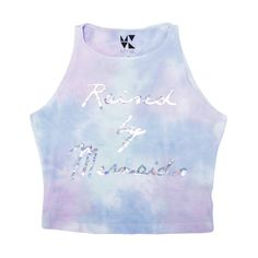 Raised By Mermaids Cotton Candy Crop | Skinny Bitch Apparel, Clothing... ($34) ❤ liked on Polyvore featuring tops