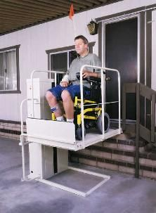 wheel chair lift----I didn\'t know they made lifts like this.