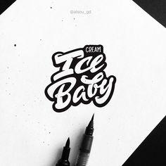 Handwritten Typography, Tattoo Lettering Fonts, Lettering Ideas, Creative Typography, Graffiti Lettering, Typography Letters, Lettering Design, Hand Lettering, Logo Design