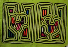 Kuna Indian Hand-Stitch Classic Design Mola Art-Panama 16021611L