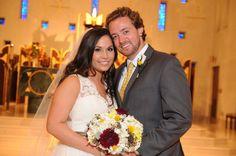 The gorgeous couple! Fall Wedding.  Maxit Flower Design