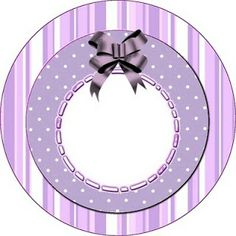 White and Lilac - Complete kit for invitations with frames and labels for treats and souvenirs and pictures | Making My Party