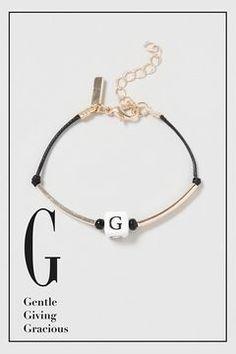 Armband mit Buchstabe G