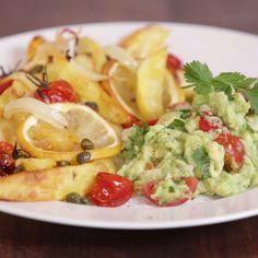 Just Vegan: Zitronenkartoffeln mit Guacamole von Nicole Just