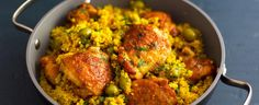 Pokud na 4 porce, tak víc kuřete, napr. Chickpea Recipes, Healthy Recipes, Garam Masala, Cooking Light, Couscous, Tandoori Chicken, Tofu, Food And Drink, Tasty