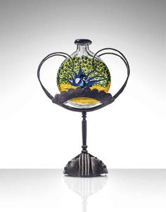 1922 Peacock mosaic vase by Umberto Bellotto