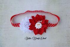 Christmas headband. Santa headband. Holiday headbands. Red White headband…