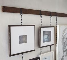 Hanging Picture Frame Rail, Bronze, 3', 2 Chains