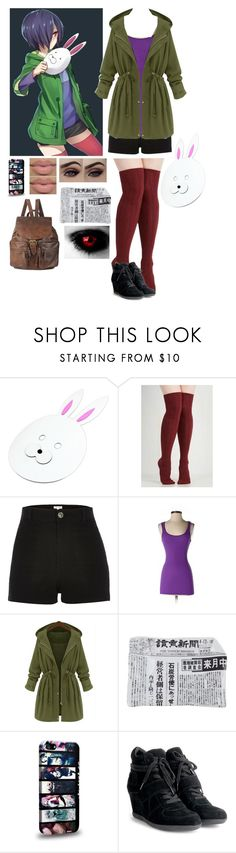 """""""Touka Kirishima Outfit ☕️"""" by typical-ghoul ❤ liked on Polyvore featuring moda, River Island, Michael Stars, Fornasetti, Ash, Forever 21, women's clothing, women's fashion, women y female"""