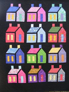 ~ free pattern ~ Amish house quilt. Firelight and Chimney Smoke by Martha Milne, featured at Quilt Inspiration